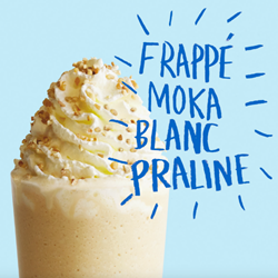 Image de Frappé moka blanc praline
