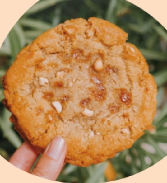 Cookie caramel cacahuètes