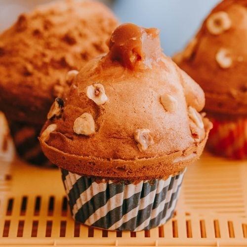 Muffin Noisettes Cœur Caramel